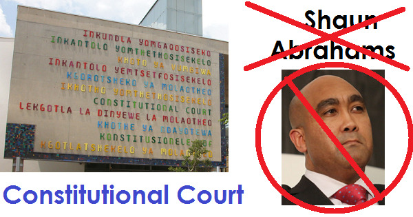 NEWSFLASH :  CONSTITUTIONAL COURT RULES : SHAUN 'THE SHEEP' ABRAHAMS PROPERLY 'SHORN'